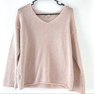 LOFT pink slouchy oversize sweater size XS